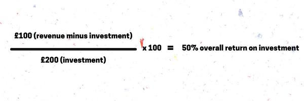 £100 (revenue minus investment)
