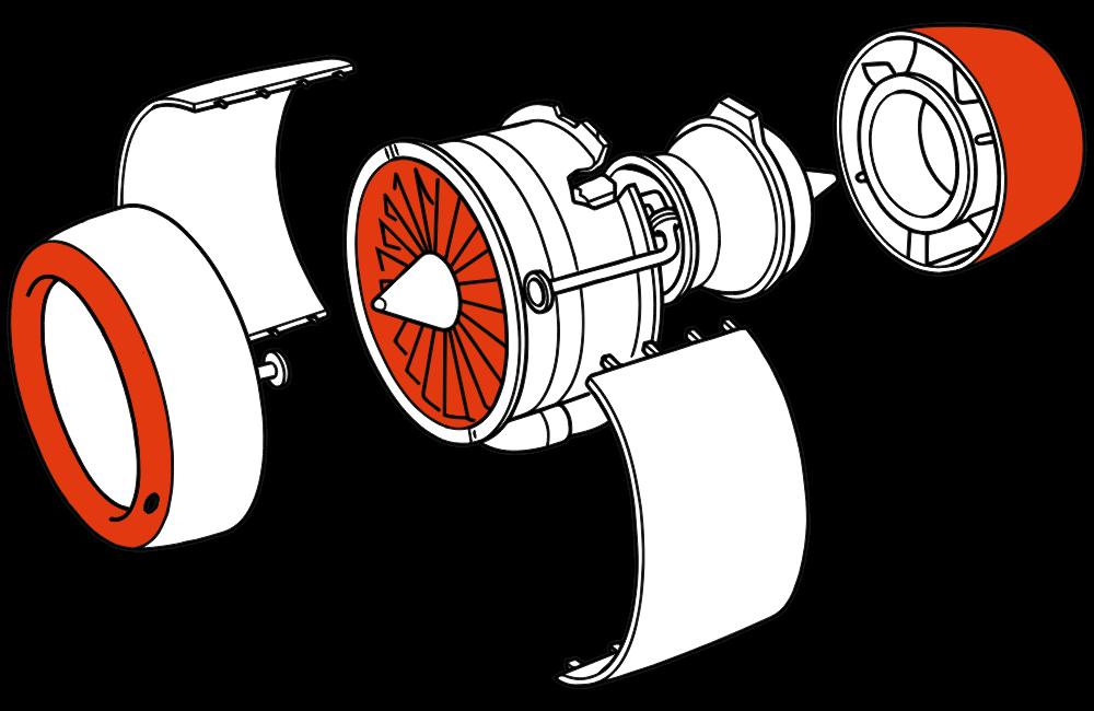Aeroplane turbine